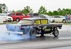 """The """"Bone Shaker"""" Ford gasser doing a burnout (Thumpr455) Tags: auto show ford car vintage nikon automobile union may southcarolina nostalgia burnout gasser d800 dragrace 2014 agas worldcars theboneshaker steelinmotion unioncountydragway"""