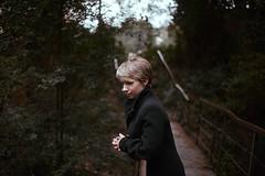 Anastasia (sergeypolovynka) Tags: canon 5d girl beautifull ukraine bridge autumn green cold jacket shorthair