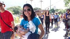 """Dando teta damos vida, dando teta doy amor"" era otro de los lemas (bancos de leche materna) Tags: caminata lac materna leche semana mundial parque del este caracas"
