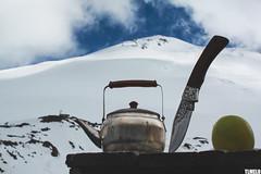 """Apple tea: Russian Style"" -  Elbrus Mount - Russia (TLMELO) Tags: russia elbrus mountain europa higher highest highestpointeurope elbrusmount europe point mount trekking russa russian sky cu clouds caminhada hiking climbing hike backpack backpacking keepwalking justdoit impossibleisnothing walking walk ice glacier glaciar gelo snow neve summit cume landscape nature natureza paisagem trilha montanha northroute rotanorte climb mountaineer"