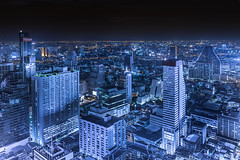 """""""Light up the darkness"""" (suwaparnjaruchaisittikul) Tags: town darkness lightup cityscape landscape a7ii sony view rooftop bangkok thailand outdoor night nightview"""