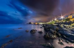 Il sentiero delle stelle (davide.calasanzio) Tags: landscape sicily paesaggio seascape sicilia sunset tramonto flikrsicilia clouds notturno stelle stars