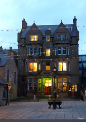 October Evening At The Stromness Hotel (orquil) Tags: october evening stromness hotel exterior outside front view traditional old architecture tall fourstory attractive building illuminated windows window illuminations victoriastreet castiron street memorial bunting town centre earlyevening dusk orkney islands scotland uk unitedkingdom orcades autumn nice memorable eyecatching pleasant frontdoor entrance doorway