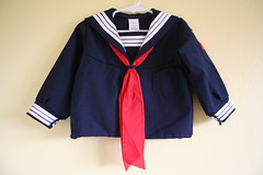 Vintage Kids Sailor Top (honor) Tags: blue boy red white girl shirt kids vintage children top navy tie anchor sailor nautical