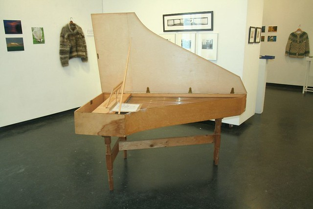Harpsichord (in progress) by Edmund Brelsford, language faculty