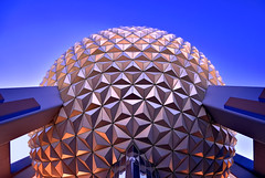 Spaceship Earth, Looking Up, Ultra Wide (Explored) (Express Monorail) Tags: travel vacation sky usa color classic america interestingness orlando epcot nikon ride florida geometry availablelight under perspective icon disney symmetry lookingup pointofview sphere theme orangecounty wdw waltdisneyworld 8mm geodesic beneath kissimmee epcotcenter themepark attraction spaceshipearth d300 futureworld lakebuenavista ultrawideangle baylake flickrexplore reedycreek explored disneypictures disneyparks expressmonorail disneyphotos joepenniston disneyphotography disneyimages sigma816mm