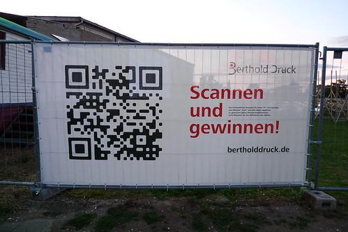 QR Code bei Hafen2 in Offenbach. Juni 2011