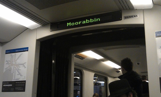 POTD: Sign says Moorabbin, but this train is at Melbourne Central