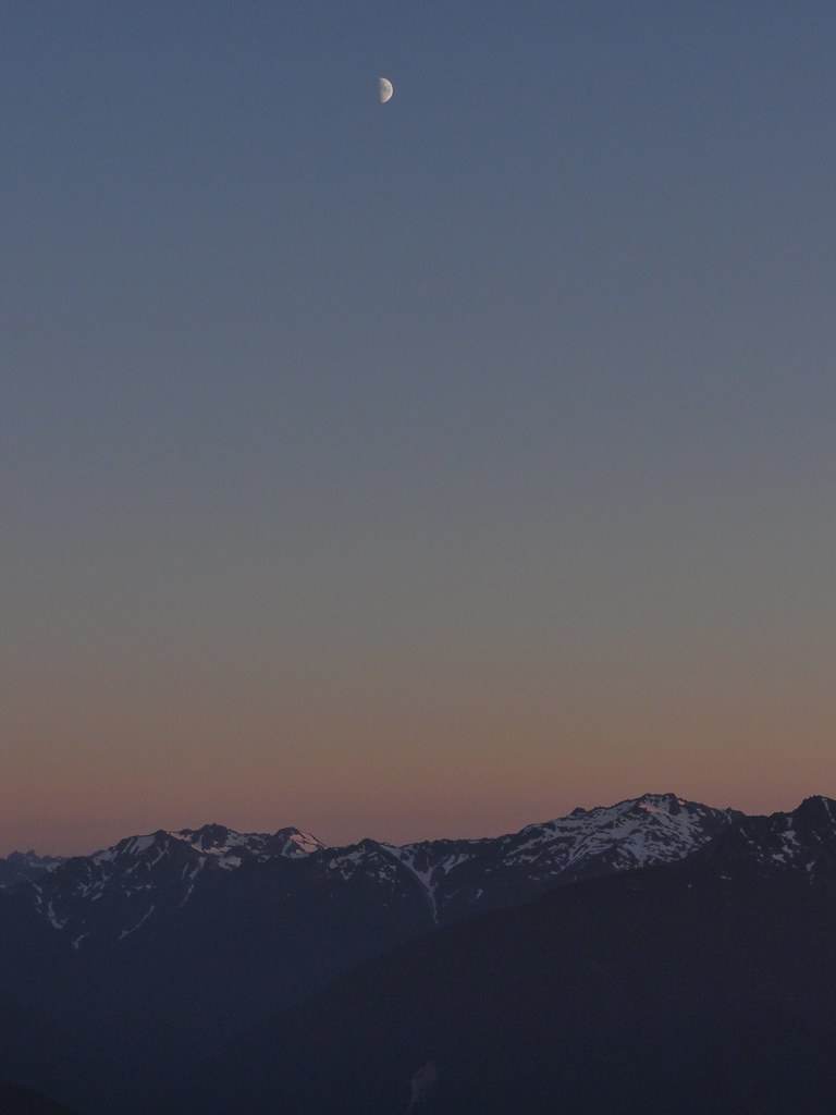 Olympic Mountains sunset.