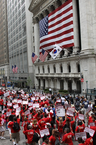 RNs march on Wall Street