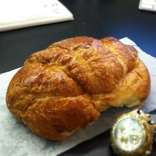 This croissant is the size of a small cat