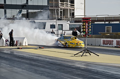 Pro stock Burnout (R.Norgren) Tags: yellow out drag sweden stockholm racing burn pontiac burnout dragracing grandam tierp europeanchampionship