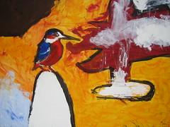 Eisvogel (Joachim Weigt) Tags: acky weigt acrylbilder acrylgemälde joachimweigt acrylbilderjoachimweigtackyacrylgemäldeacrylbilderweigt