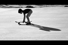 the first footstep toward the liberty (DISAMISTADE_my life is a reportage!) Tags: blackandwhite ombra skaters shade skate biancoenero controluce salentofunparkmesagne