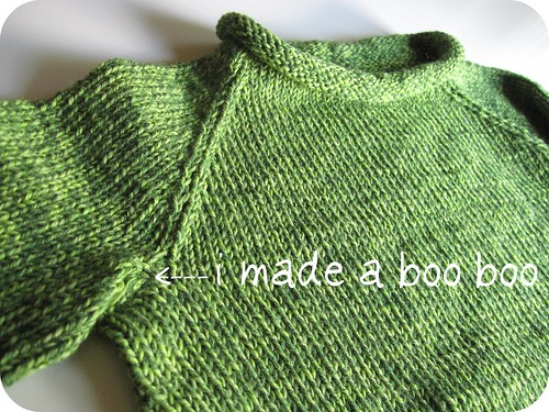 under arm stitching of sweater