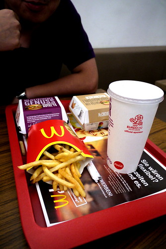 Dinner in McDonalds Getreidegasse, Salzburg 格特萊德街麥當勞晚餐 薩爾斯堡
