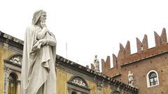 Northern Italy 2009: Deep thoughts (mdiepraam) Tags: italy statue italia dante north verona 2009 italie nord noord piazzadeisignori