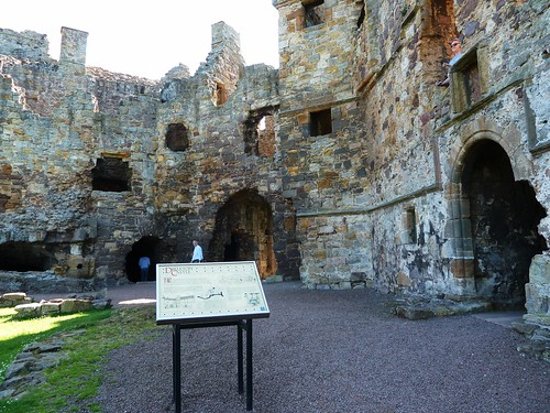 Interior of Dirleton Castle