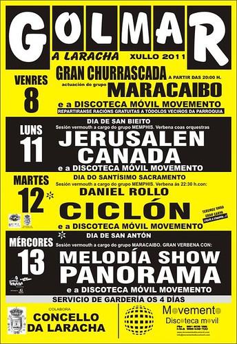 A Laracha 2011 - Festas de Golmar - cartel