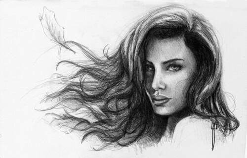 Dibujos de caras de mujeres a lapiz - Imagui