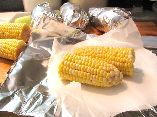 Crockpot Baked Potatoes and Roasted Corn on the Cob