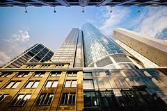sky is the limit (Dennis_F) Tags: reflection tower colors architecture zeiss skyscraper am frankfurt sony main wide himmel architektur fullframe dslr turm ultra spiegelung ssm hochhaus ffm 1635 uwa weitwinkel ultrawideangle uww a850 163528 sonyalpha sonydslr vollformat zeiss1635 sal1635z cz1635 sony1635 dslra850 sonya850 sonyalpha850 alpha850 sonycz1635