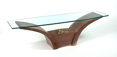 Swoopy Coffee Table (Peter Steeper) Tags: wood glass coffee table design diy unique walnut curved brass built woodworking inlay woodworker