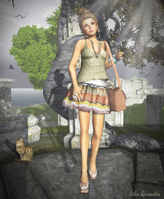 "*Mimikri Nica* - Olive top & July Shirt /Hair Fair 2011 ""LOQ Hairs"" - Saki - Caramel"