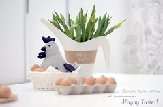 Happy Easter 2012 ~ ( chevron chicken, eggs & tulips ) (Iro {Ivy style33}) Tags: flowers white chicken ikea grey spring basket tulips natural plastic eggs chevron 2012 watercan diningarea happyeaster doorstopper easterwishes interiorstyling april2012 domesticstorieswithivy thepearlbircheshouse