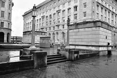 Art Deco Lighting & Mersey Tunnel Pay Booth (Stephen Whittaker) Tags: reflection wet rain liverpool blackwhite high nikon rainyday grain iso raining d5100 whitto27