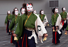 よさこい (appow) Tags: face japan female laughing canon women mask dancing emotion dancer 日本 nocrop matsuri 後楽園 祭り 水道橋 よさこい hamakoi 50d