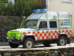 Land Rover Defender 110 Stationwagon/Lakeland Land Rover (barronr) Tags: ambulance cumbria landrover ambleside bluelights mountainrescue oncall langdaleandamblesidemountainrescueteam