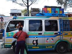 P2286888 (lnewman333) Tags: street people bus birds sumatra indonesia stencil colorful southeastasia panda sumatera berastagi northernsumatra