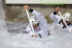 David Florence & Richard Hounslow in action during the Canoe Dou (ActPact) Tags: uk greatbritain england london sports pool muscles grit holding energy whitewater europe britishisles champion canoe rapids h international manmade strong strength pointing endurance stress goldmedal tense westerneurope scoring courage individual wellness worldrecord healthiness physicalfitness britishsquad
