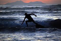 Surf (Txulu) Tags: sunset beach sports surf playa deporte puestadesol euskadi