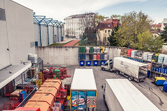 108 / 365 - hidden behind walls @ Roterdstrae (Matthias Obergruber Photography) Tags: vienna shop wall truck austria backyard storage hidden delivery trucks walls interspar at behindwalls roterdstrase