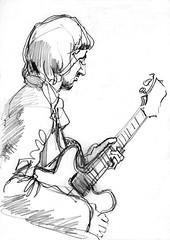 Guitarist - an old friend (Martin Blunt) Tags: old pencil sketch friend sketchbook davidbellamy