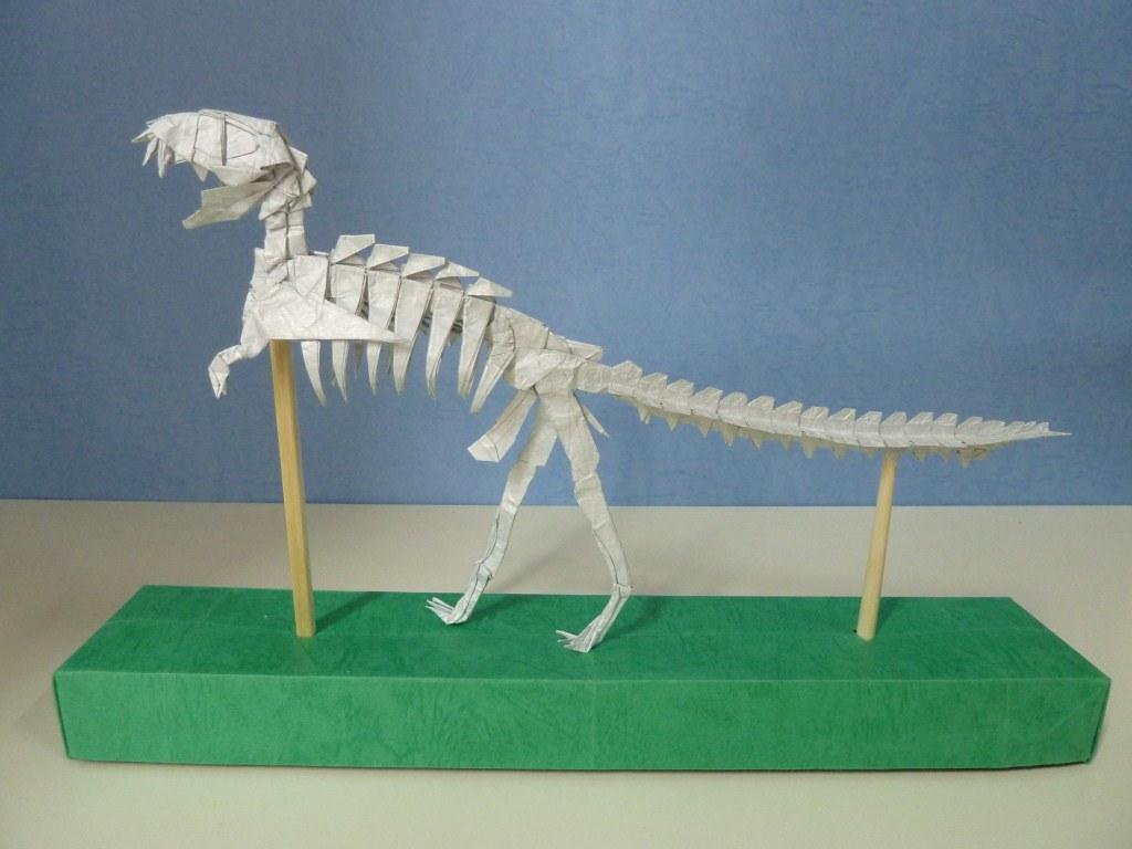 T Rex Skeleton MikiSu Tags Paper Origami Tissue Double Trex Tyrannosaurus