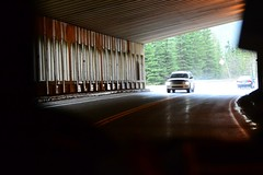 Trip to BC (Vegan Butterfly) Tags: road trip canada cars dark highway bc traffic tunnel columbia british