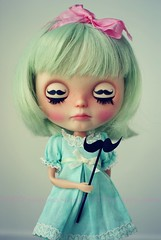 A Doll A Day. May 15. Mustache.