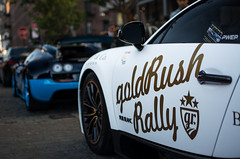 Golrush Rally Made Quite The Appearance Yesterday In NYC (akahn177) Tags: nyc blue roof white black rally convertible 11 carbon unicorn bugatti blanc rare matte pur goldrush meatpacking combo veyron vitesse supersport fibre gr6 aventador