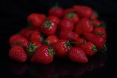 Fresh Strawberries IMGP0011 (Mike07922, 3.3 Million+ Views - thanks guys) Tags: fruit strawberry grape onblack pentaxk3