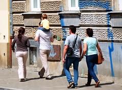 People on Sidewalk 2 (Kojotisko) Tags: people person czech brno cc creativecommons czechrepublic persons fujifilmfinepix fujifilmfinepixsl1000 fujifilmfinepixsl1000kojotisko