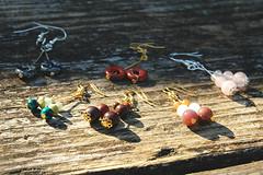 gemstone earrings (Studio Paars) Tags: snowflake red green rose yellow studio beads jasper turquoise jewelry jewellery audrey donut fancy earrings quartz turqoise paars semiprecious gemstone obsidian kralen rosequartz brecciatedjasper aventurine sieraden showonblog oorbellen chrysocolla snowflakeobsidian jaspis fancyjasper edelsteen rozenkwarts obsidiaan aventurijn brecci brecciated audreyb studiopaars