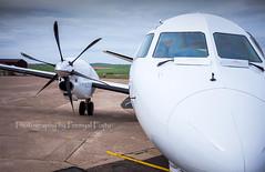 Loganair Saab 2000 (S20) G-LGNR (Premysl Fojtu) Tags: travelling promotion plane scotland airport orkney 2000 aircraft aviation scottish commercial airline saab kirkwall s20 loganair scotlandsairline glgnr