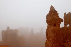 IMG_2820 (Geology Joel) Tags: fog hoodoos brycecanyon bryceamphitheater geology rocks nature nationalparks utah desert weather unique hike trails rain
