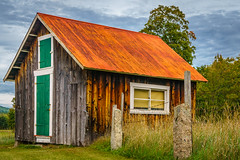 Small shed (FotoFloridian) Tags: red shed barn whitemountains newhampshire newengland farm nh sony a6000
