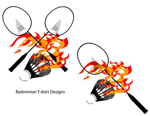 Alternate Badminton T-shirt Designs