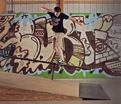 Matt Stiendl, Backlip (kit.ramsey) Tags: barn matt graffiti skateboarding devil philly dare curtis bams steindl backlip