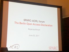 SPARC-ACRL Forum in the Berlin Declarati by martin_kalfatovic, on Flickr